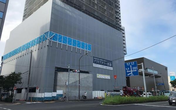 西新駅直結の高層マンションは年初からの第2期販売も好調だった(福岡市)