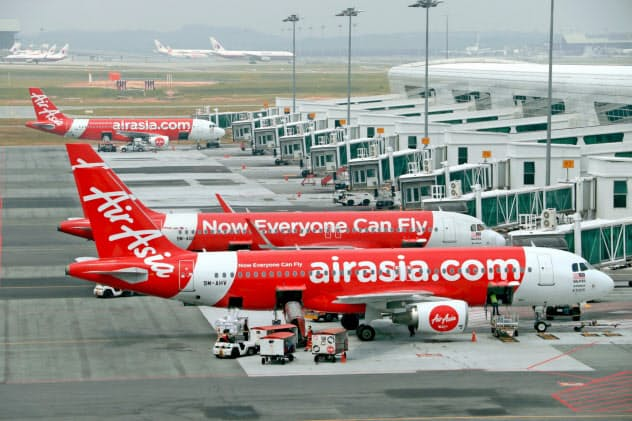 電子決済などエアアジアの新事業はまだ離陸に至っていない(クアラルンプール国際空港)