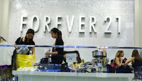 米アパレル大手フォーエバー21は破産申請を検討していると報じられた=ロイター