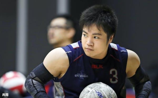 車いすラグビー日本代表の期待の新鋭、橋本勝也選手(東京都品川区)=共同