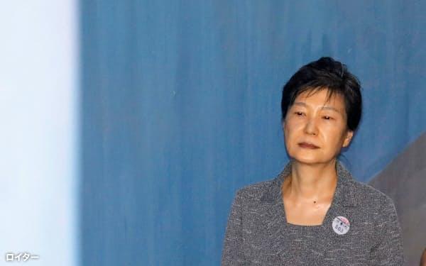 韓国最高裁は29日、韓国の前大統領、朴槿恵被告に収賄罪が成立すると判断した(ソウル、写真は2017年8月)=ロイター