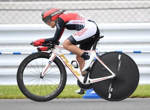 杉浦は2017、18年と世界選手権で優勝、一躍東京パラリンピックの金メダル候補に名乗りを上げた(6月、静岡県)