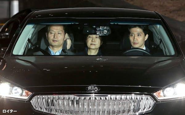 逮捕された韓国の朴槿恵(パク・クネ)前大統領(2017年3月)=ロイター