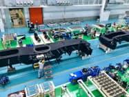 タダノ香西工場が本格稼働した(29日、高松市)