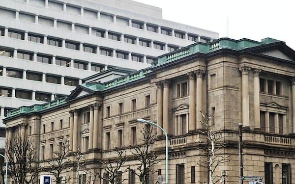 長期金利は日銀が「下限」の目安とした水準を下回った(東京都中央区の日銀本店)