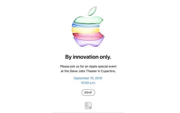 アップルがメディアに送付した招待状には「技術革新によってのみ」と記した