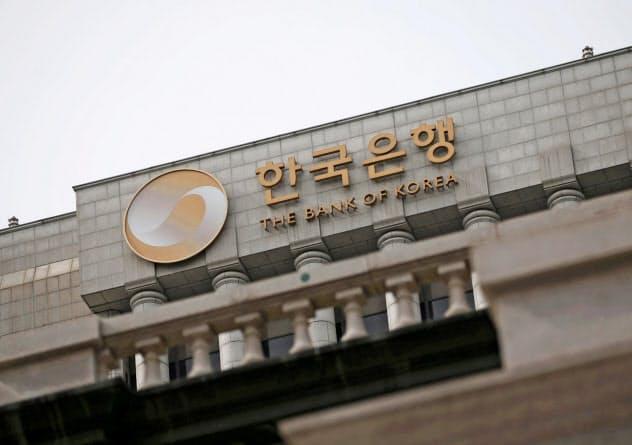ソウルにある韓国銀行(中央銀行、2016年3月)=ロイター・共同