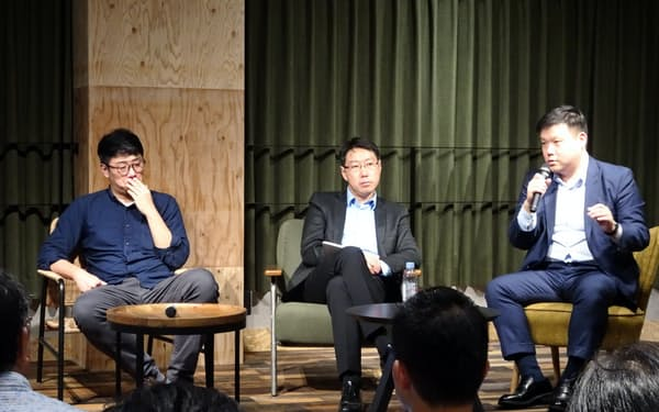 AI関連スタートアップの幹部や有識者らが議論を交わした(東京・渋谷)