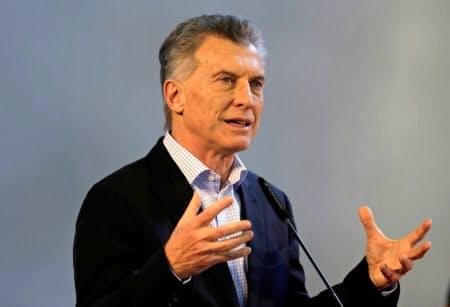アルゼンチンのマクリ大統領(23日、ブエノスアイレス)=ロイター