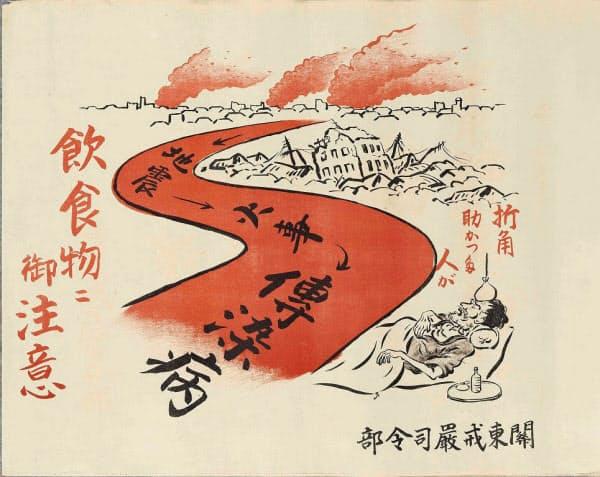 関東戒厳司令部のポスター(江戸東京博物館蔵)=共同