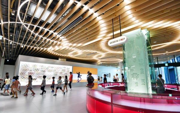 内覧会が開かれた日本オリンピックミュージアム(2日、東京都新宿区)