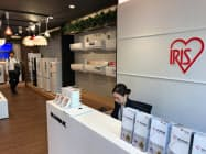 アイリスオーヤマは大阪・心斎橋に訪日客をターゲットにした家電展示場を新設した(2日)