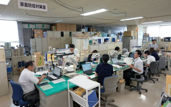県は家畜防疫対策室を設置した