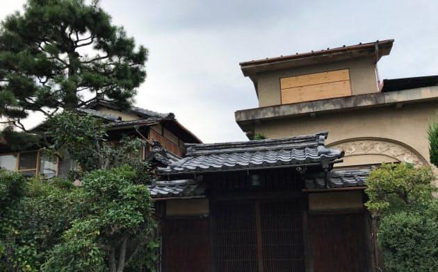 国登録有形文化財となった岐美家(京都市北区)