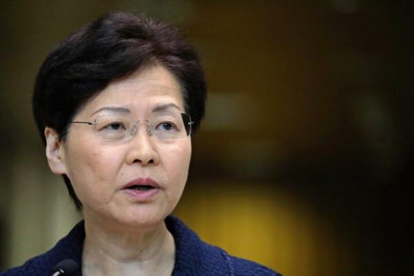 林鄭月娥・行政長官の非公開会合の発言が報じられた=ロイター