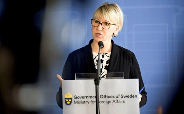 スウェーデンのバルストロム外相=ロイター