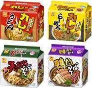 東洋水産が16日に発売する和風袋麺シリーズ