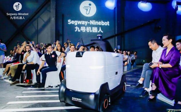 屋外配送専用の「セグウェイ X1」(ナインボット提供)