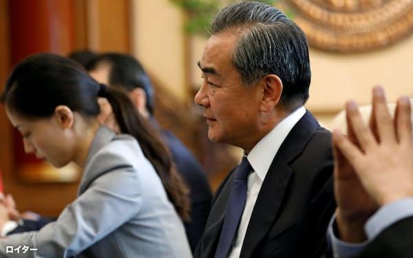 中国の王毅外相(2019年8月)=ロイター