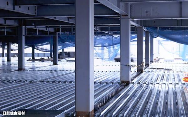 建物の柱となる大径角形鋼管(コラム)の需要が落ち着いている