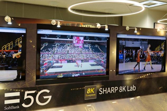 ソフトバンクはバスケットボール日本代表戦の8K映像をMECサーバーで処理し、5G回線で配信する実証実験を行った