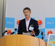 柏崎市の桜井雅浩市長は10月、東電に見解を伝える方針だ(4日、柏崎市)