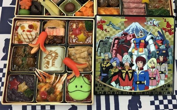 高島屋は人気アニメ「機動戦士ガンダム」をあしらったおせちを販売する