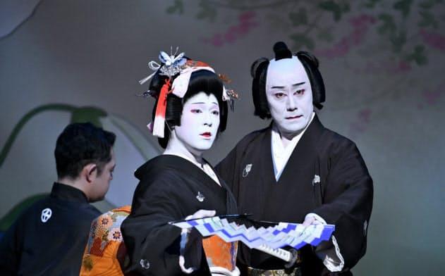 今年発足した「九団次・広松の会」は、ベテランに近い立ち役と若手女形というユニークな組み合わせが面白い(撮影:吉野耕介)