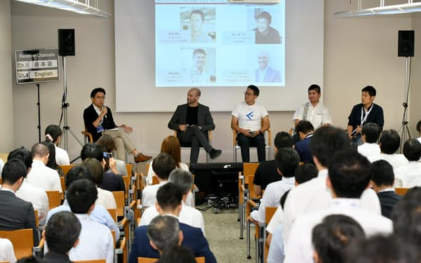 フィンテックのスタートアップ経営者が討論した(4日、東京・丸の内)