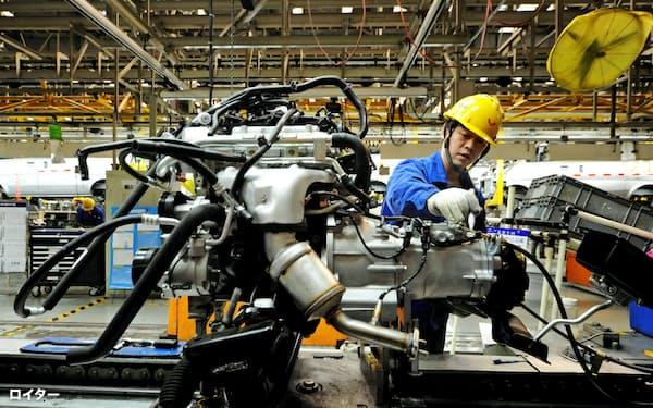 中国企業は海外企業をM&Aすることで技術を取り込んできた(山東省の自動車工場)=ロイター