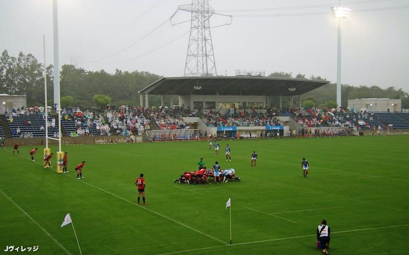 7月、Jヴィレッジで初めてトップリーグの公式戦が開かれた(Jヴィレッジ提供)