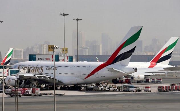 エミレーツ航空は、発注した旅客機を巡るトラブルに不満を募らせている=ロイター
