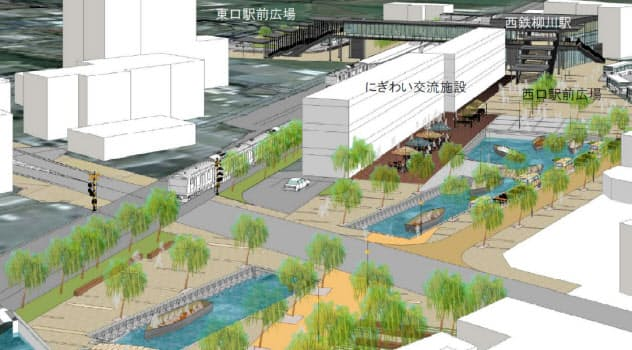 西鉄柳川駅からすぐに船に乗ることができる(イメージ)