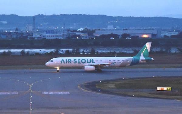 LCCのエアソウルは富山―ソウル便を16日から運休する