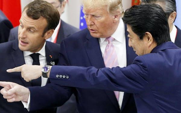 6月のG20大阪サミットでも首相は「MINASE」の腕時計を身につけていた