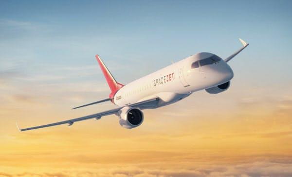 三菱航空機の70席クラス「スペースジェットM100」のイメージ