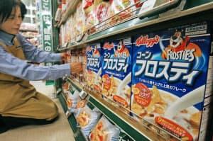 日本ケロッグは子供の朝食用コーンフレークが人気だった