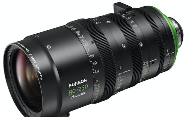 富士フイルムが12月に発売するシネマカメラ用ズームレンズ「FUJINON Premista80-250mmT2.9-3.5」