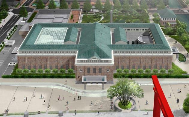 京都市京セラ美術館のリニューアル後の全景イメージ