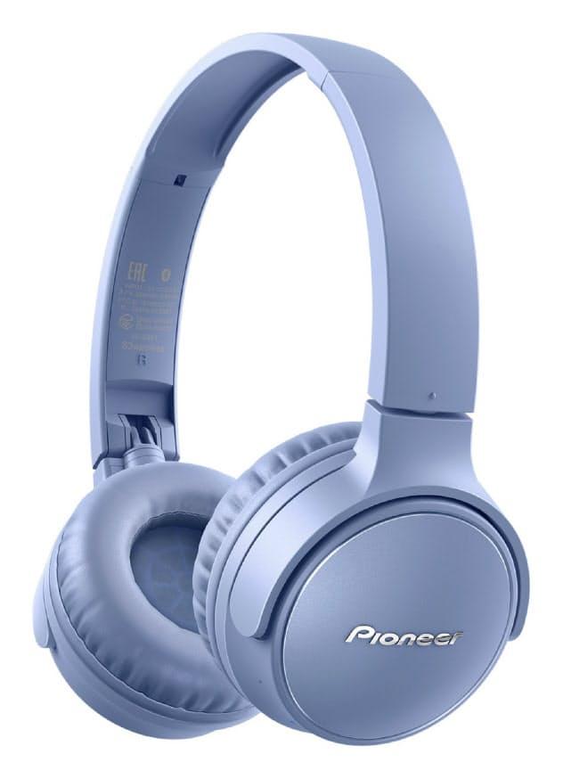 オンキヨー&パイオニアが発売するワイヤレスヘッドホン「S3wireless」(青)