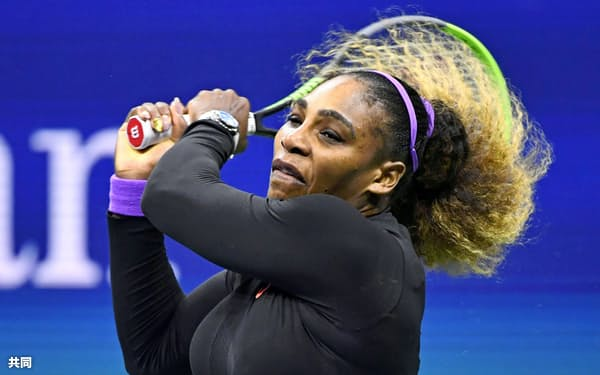 女子シングルス決勝に進出したセリーナ・ウィリアムズ=共同