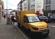 ドイツポストが日常業務に使うストリートスクーターの配送EV(独フランクフルト)