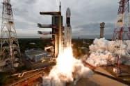 インド宇宙研究機関(ISRO)が7月に打ち上げた無人月面探査機=同機関提供