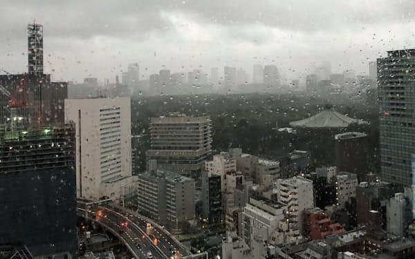 台風通過の夜明け