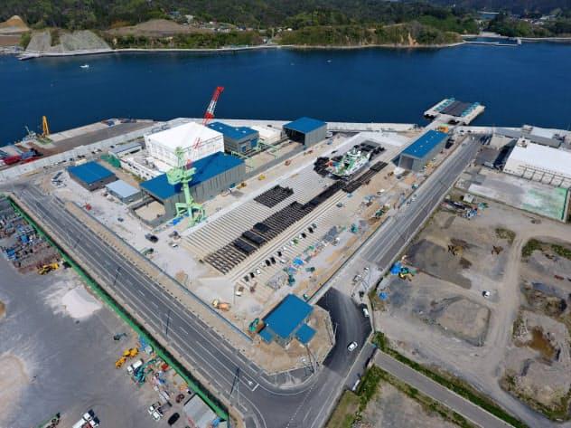 みらい造船が新設した造船施設(宮城県気仙沼市)