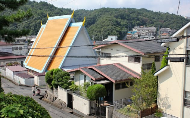 神戸市北区広陵町に移設された「カンボジア館」