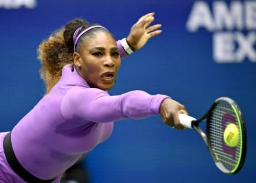 セリーナ・ウィリアムズは今の女子テニスは「選手層が厚くなったと感じる」と話す=共同