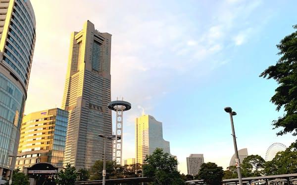 みなとみらい21地区には企業の進出などが相次ぐ(横浜市)
