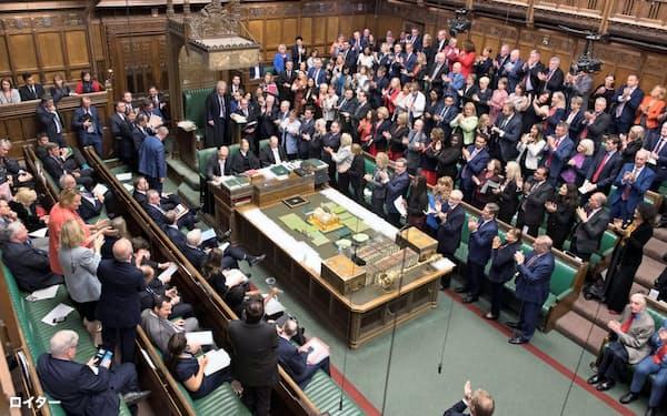 英議会下院はジョンソン首相が提出した解散総選挙の動議を否決した=ロイター