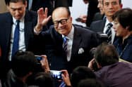 李嘉誠氏は香港デモで双方に自制を促した=ロイター